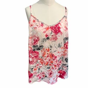 White House Black Market Floral silky camisole